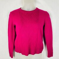 Banana Republic Women's Size Medium Lauren Knit Weave Pattern Sweater Pink