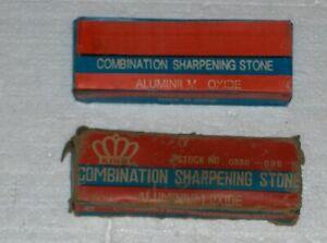 Vintage Combination Sharpening Stone Aluminum Oxide 150X50X25MM-+ BONUS