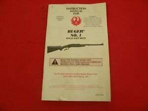 Ruger NO 1 Manual Nice hard to find not american white nice