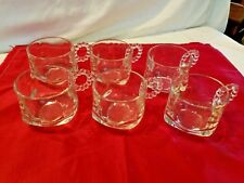 Punch Cup w/Round Glass Ball Handles - Set of 6 Punch Bowl Glasses