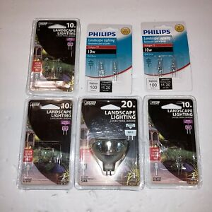 6-Pkgs Landscape Lighting Bulbs 10W 20W 12 Volt Flood Reflector BAB GU5.3 & G4