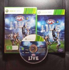 AFL Live (Microsoft Xbox 360, 2011) Xbox 360 Game - FREE POST