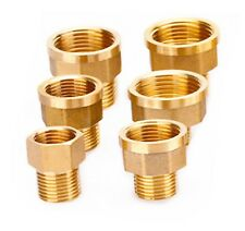 "1/8"" 1/4 3/8"" 1/2"" Female Male BSP Coupler Brass Connector Fitting Adaptor Union"