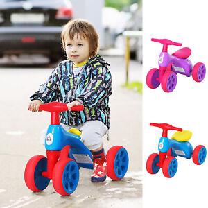 Baby Balance Bike Toddler Safe Training 4 Smooth Rubber Wheels w/Storage Bin