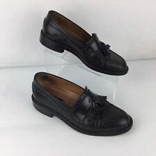 Bostonian Luxe Men Shoes Sz 8M Black Loafer Moc Toe Kilt Tassel Leather Italy
