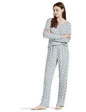 Lucky Brand - Womens L - $58 - Gray/Pink Diamond Ditzy Pajama Top/Pants Gift Set