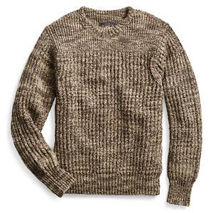 RRL Ralph Lauren Crewneck Cotton Varsity Sweater-MEN- XS