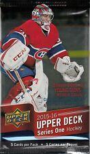 2015-16 Upper Deck Hockey 1 Pack Retail Blaster 5 Cards Connor McDavid Rookie???