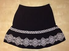 White House Black Market Brand Black Skirt SZ 8
