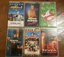"Lot de films UMD Sony PSP ""jumanji, seven, sos fantômes ..."""