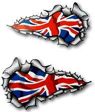 XXL LUNGO MANO COPPIA STRAPPATO Open metallo inglese Union Jack bandiera