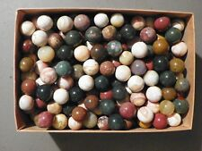 Marbles Agate And Or Jasper Natural Gemstones.  Dozen Of 5/8 inch to 3/4 Inch.