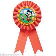 "Disney Mickey Mouse Clubhouse Party 6"" Red Badge Award Ribbon Prize"