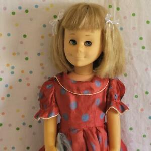 1962 MATTEL CHARMIN' Chatty Doll in Party Dress -WORKING +Record POEMS +PROVERBS