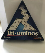 "Classic ""TRIOMINOS"" Triangular Domino game. By Pressman games 2002."