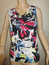 Tahari Arthur S. Levine Sleeveless Multi-Color Drape Neck Top Size Small