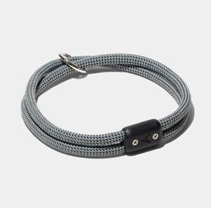 Atlas Pet Company Lifetime Rope Collar - Silver, XL
