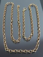 VINTAGE 9ct GOLD BELCHER LINK NECKLACE CHAIN 25 inch 1978