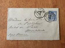 Monaco Cover Lettre Stamp 1876 Toulon-Monaco