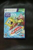 SpongeBob's Surf & Skate Roadtrip Xbox 360 Kids Kinect Game--no manual