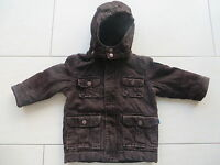braune Cord-Jacke Winterjacke Jungen-Jacke mit abnehmbarer Kapuze Größe 74/80