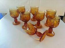 Franciscan CABARET   Wine Goblet  5.5 Vtg  Set of 8 Amber