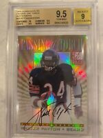 1999 PASSING THE TORCH PTT WALTER PAYTON BARRY SANDERS DUAL AUTO 3x9.5 10x1