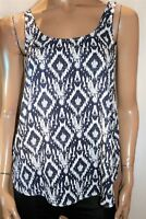 COTTON ON Brand Blue White Sleeveless Woven Tank Top Size XS BNWT #TS80