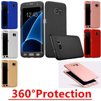 Hybrid 360 Degree Full Body Case Cover Screen Protector for Samsung Galaxy Phone