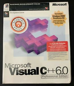Microsoft Visual C ++ 6.0 Professional Edition SOFTWARE - Brand New SEALED BOX