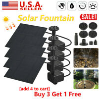 200L/H Solar Water Panel Power Fountain Pump Kit Pool Garden Pond Watering EB