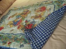 """TIED QUILT/BLANKET NEW CONDITION 34"""" X 40"""" Bears, Birds, Balloons etc."""