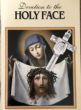 Holy Face of Jesus Book And Reparation Cross- Veronica's Veil-Rare Cross