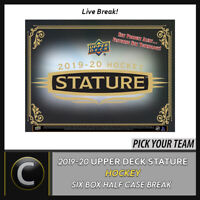 2019-20 UPPER DECK STATURE HOCKEY 6 BOX (HALFCASE) BREAK #H841 - PICK YOUR TEAM