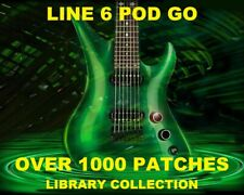 LINE 6 POD Go Guitar Patches Presets Tone Collection CD Over 1000 Effects