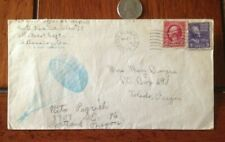 Fort Benning Army Paratroops Letterhead w/ 2 Cent Red Washington Postage Stamp
