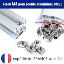Écrou M4 pour profilé aluminium 20x20 - M4 T Nut 20mm T-Slot / V-Slot Série 2020
