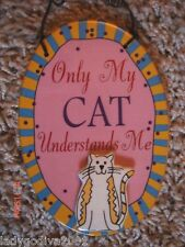 Only My CAT Understands Me -  sign - Ganz - FREE Shipping