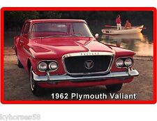 1962 Plymouth Valiant  Auto Car Refrigerator / Tool Box Magnet