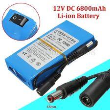 6800mAh DC-168 12V Rechargeable Lithium Li-ion Batterie Chargeur Pr CCTV Caméra