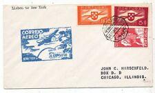 CPA PK AK AVIATION AIR PORTUGAL CORREIO AEREO LISBON-NEW-YORK 1939
