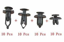 40X Car Body/Bumper Push Pin Rivet Retainer Trim Moulding Clip Assortments Case