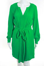Banana Republic Kelly Green V-Neck Belted Shirt Dress Size 0