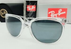 """RAY BAN transparent/blue """"CATS 1000"""" RB4126 632562 57 sunglasses NEW IN BOX"""