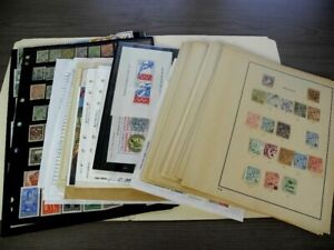 MONACO, Excellent assortment of Stamps hinged on pages, stock pages, others