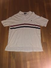 RALPH LAUREN POLO 4XLT White With Red And Blue Stripes