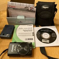 Canon PowerShot Elph 330 Hs Digital Camera Black w/Box/Case/All Original Papers