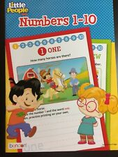 LITTLE PEOPLE BOOK NUMBERS 1-10 FISHER PRICE WORKBOOK KIDS LEARNING FUN SCHOOL