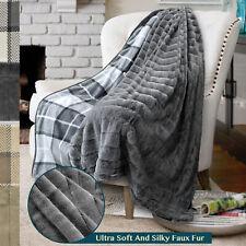 Sherpa Blanket Throw Soft Fleece Reversible Blanket Sofa Couch Bed Microfiber
