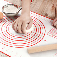 Silicone Dough Non Stick Rolling Pad Baking Fondant Pastry Clay Mat New 40x60cm